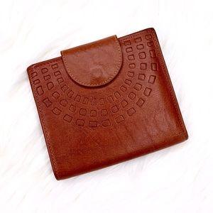 Vintage Princess Gardner Leather Bifold Wallet